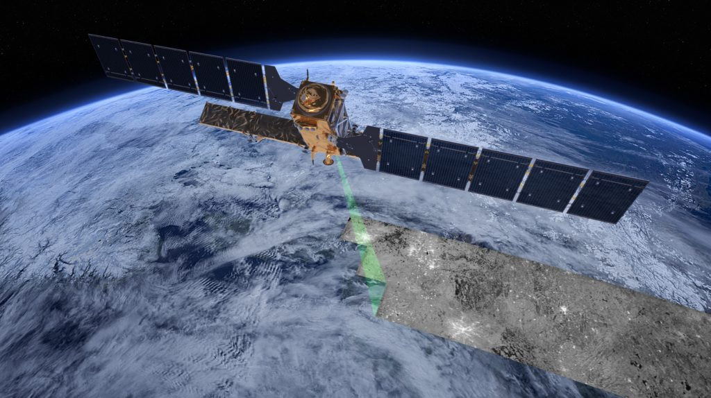 Sentinel-1 satellite (© ESA/ATG medialab)